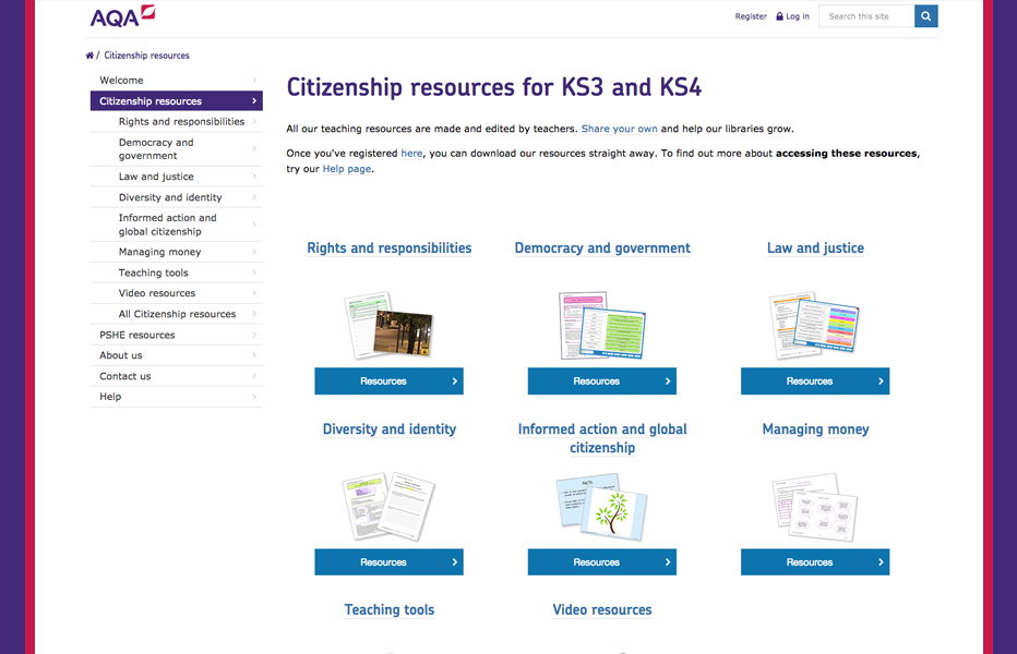 AQA Resources - Citizenship