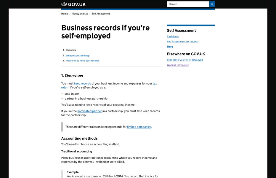 Self-Employed Accounts