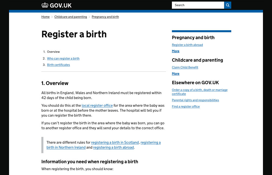Register a Birth