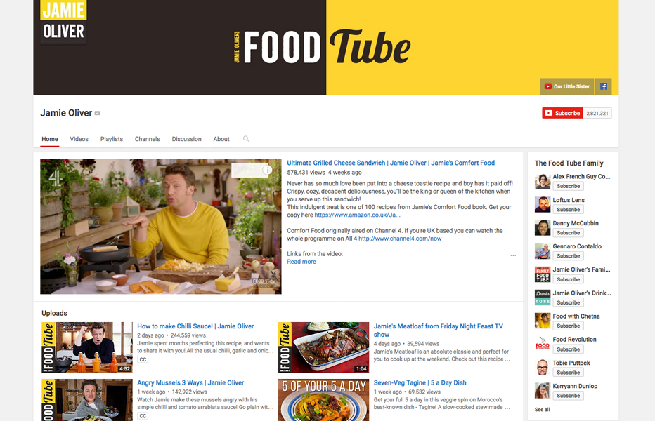 Jamie Oliver: Youtube