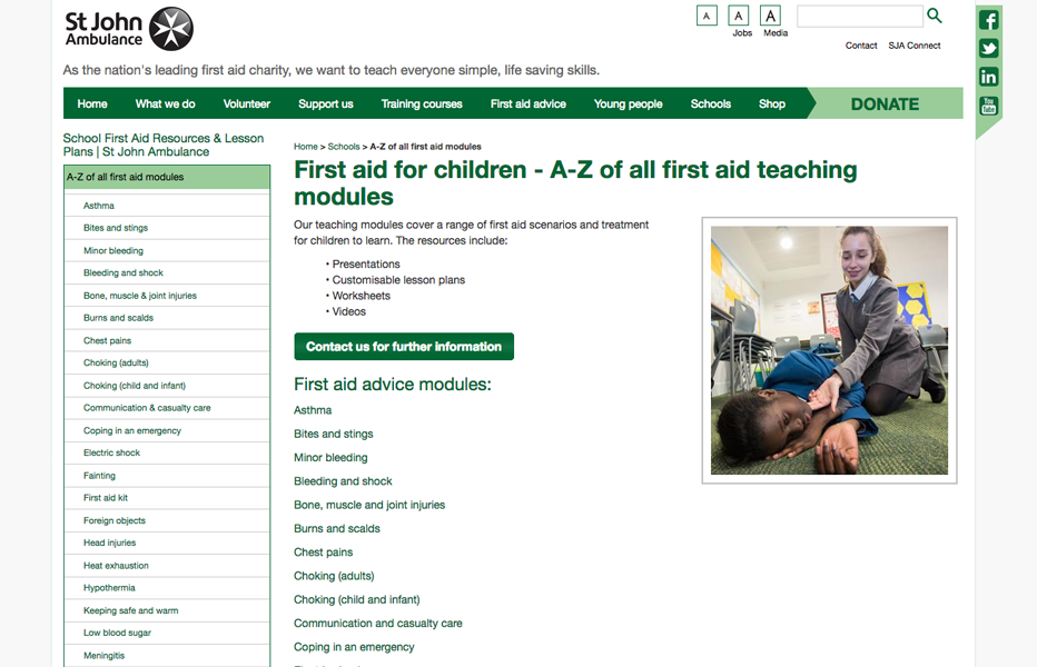 St. John Ambulance - Teaching